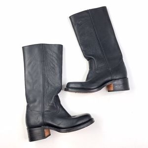 Frye | Tall 14L Campus Genuine Leather Boots Black